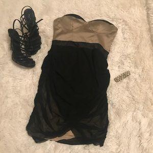 Dresses & Skirts - Black & Golden/Nude Dress
